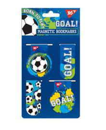 Закладки магнитные YES &ampquotBorn to play&ampquot, 4шт, Украина 4823091904363
