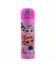 Детский термос для девочки YES LOL Juicy 420 мл Розовый (5056137156320)(707061)