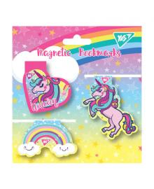 Закладки магнитные YES «Unicorn», высечка, 4шт 5056137177622