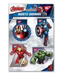 Закладки магнитные YES «Marvel», высечка, 4шт 5056137177653