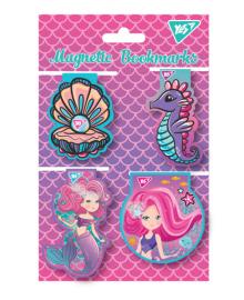 Закладки магнитные YES «Mermaid», высечка, 4шт 5056137177639
