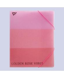Папка-органайзер А4 на резинке на 4отделения YES ROSEGOLD Розовая (491749) YFO-A4-4/3s
