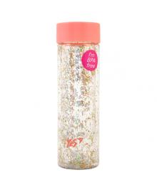 Бутылка для воды из пищевого пластика с блестками YES Shine 570мл Периковая (707005) 5056137158997