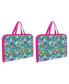 Школьная папка-портфель на молнии с тканевыми ручками YES Disco Owls Разноцветная (491594) 5056137198665