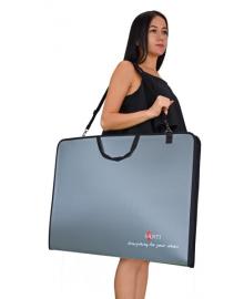 Большая папка-портфель для эскизов А2 SANTI Prestige 450х39х715мм Серая (5056137147472)