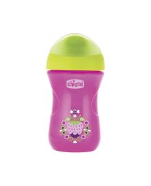 """Чашка пластиковая для питья """"Easy Cup"""" 266мл. от 12 месяцев (розовая) CHICCO"""