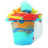 Детский набор для игры с песком Same Toy 6 ед. ведерко Синій (976Ut-2)