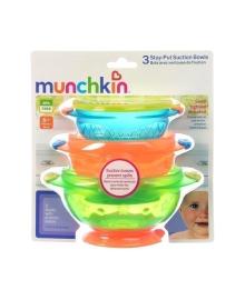 Набор тарелок Munchkin на присосках 3 шт 1107503, 5019090110754