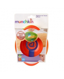 Набор термочувствительных тарелок Munchkin White Hot, 3 шт. 12100, 5019090121002