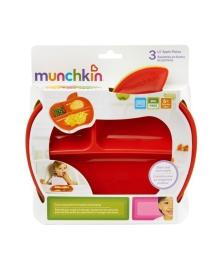 Набор тарелок Munchkin Lil Apple, 3 шт. 12102, 5019090121026