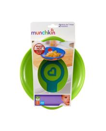 Термочувствительные тарелки Munchkin White Hot зелёная и жёлтая, 2 шт. 12104.01, 5019090121040