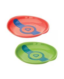 Термочувствительные тарелки Munchkin White Hot зелёная и оранжевая, 2 шт. 12104.02
