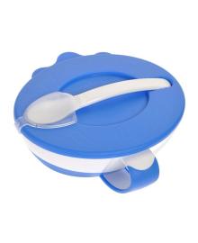 Тарелка с ложкой Canpol Babies синяя, 350 мл 31/406_blu, 5901691813090