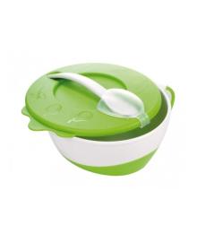 Тарелка с ложкой Canpol Babies зеленая, 350 мл 31/406_gre, 5901691813113