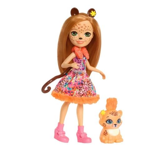 Кукла Enchantimals Чериш Гепарди с питомцем