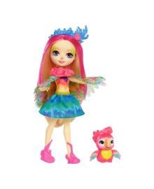 Кукла Enchantimals Попугайчик Пикки с питомцем