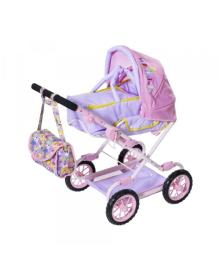 ZAPF Коляска для куклы BABY BORN - ДЕЛЮКС S2 (сложная, с сумкой)