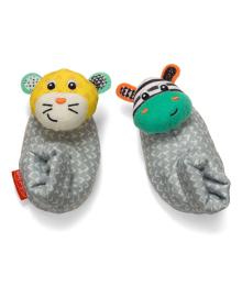 Носки погремушки Infantino Зебра и тигр 2 шт 206893I, 3021105068938