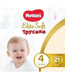 Подгузники-трусики Huggies Elite Soft 4 (9-14 кг), 21 шт.
