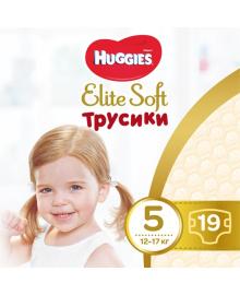 Подгузники-трусики Huggies Elite Soft 5 (12-17 кг), 19 шт.