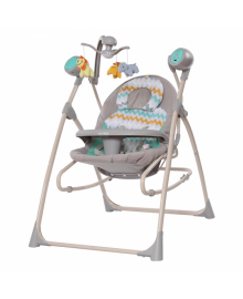 Детские колыбель-качели Carrello Nanny (Каррелло Нани) 3 в 1 CRL-0005 Grey Wave (6900075000186) Вет серый