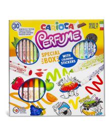 Набор фломастеров Carioca Perfume&Stickers 30 цветов и наклейки