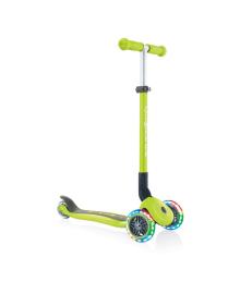 Самокат Globber Primo Foldable Lights зеленый 50 кг 432-106-2, 4897070184893