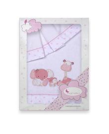 Комплект постельного белья Interbaby Zoo розовый
