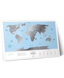 Скретч Карта Світу Travel Map Silver в металевій рамі 3, 4820148900033