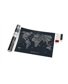 Travel Map® LETTERS World в дизайнерському тубусе 107, 6957348004990