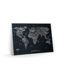 Travel Map® LETTERS World в металевій рамі 107, 6957348004990