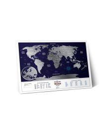 Скретч Карта Світу Travel Map Holiday в металевій рамі 56