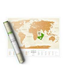 Скретч Карта Світу Travel Map Gold (рус) в дизайнерському тубусе 15