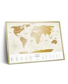 Скретч Карта Світу Travel Map Gold (укр) в рамі 15