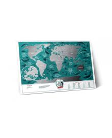 Скретч Карта Світу Travel Map Marine в рамі 55