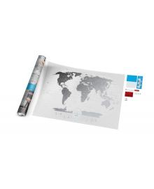 Travel Map® AIR World в дизайнерському тубусе 105