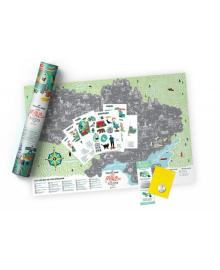 Скретч Карта Travel Map Моя Рідна Україна в дизайнерському тубусе 57