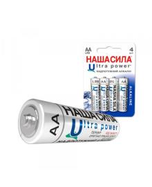 Батарейка  НАША СИЛА  LR6     Ultra Power  4 на блістері