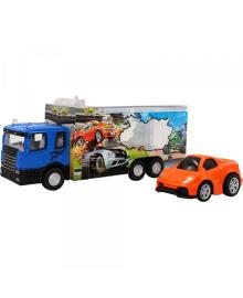 """Автотранспортер """"Быстрое перевозки"""" с оранжевой машиной, 1:60, 3"""