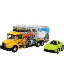 """Автотранспортер """"Быстрое перевозки"""" с зеленой машинкой, 1:60, 3"""