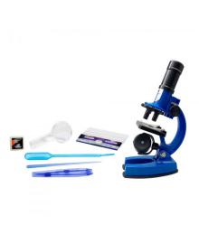 Синий детский микроскоп EASTCOLIGHT с аксессуарами (увеличение до 450 раз)