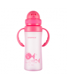 Детская бутылка для напитков Uzspace Go Flash розовая 350 мл