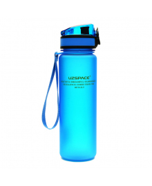 Бутылочка для спорта Uzspace Frosted голубая 500 мл