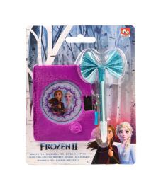 Набор канцтоваров Frozen 2 Блокнот на замочке с ручкой