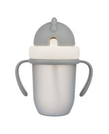 Поильник с силиконовой трубочкой Canpol babies Matte Pastels Gray 210 мл