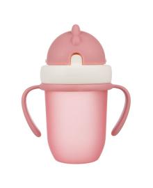 Поильник с силиконовой трубочкой Canpol babies Matte Pastels Pink 210 мл