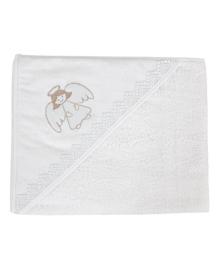 Крестильное полотенце Ceba Baby Ангел 95х95см белое W-807-080-100, 5907672321998