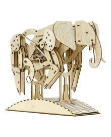 Деревянный механический конструктор Mr.PLAYWOOD Слон