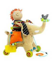 Игрушка-каталка Dolce Слон с куклой