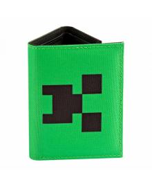 JINX Minecraft Кошелек Pocket Creeper Tri-fold Nylon Wallet-N/A-Green